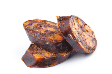 harrow sliced ​​chorizo