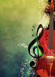 Leinwanddruck Bild - Music background