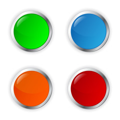 Vector colored buttons