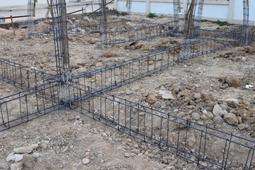 reinforcing steel bars for building construction