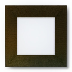 3d Frame Covered with Leathe