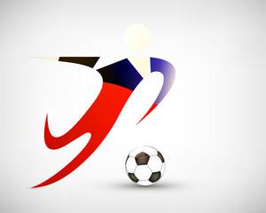 Silhouette Fußball Chile