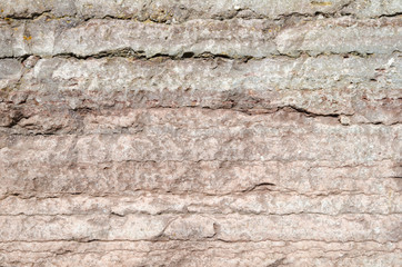 Background of a limestone cliff detail