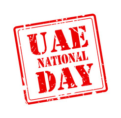 UAE NATIONAL DAY on grunge red stamp