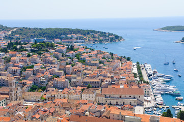 Cityscape of Hvar in Croatia