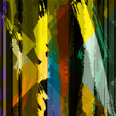 abstract background composition, with strokes, splashes and line