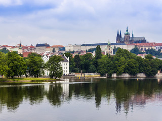 Prague, Czech Republic. Embankment of the Vltava River