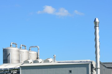 steel tanks and chimney