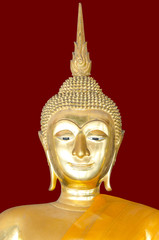 Image of buddha on deep red background