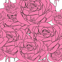 Roses pattern seamless, Eps 10