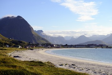 Ramberg Beach in the Lofoten Islands, Norway