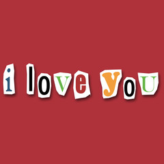 message créatif I love you