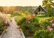 road in the beautiful garden  - 66215128