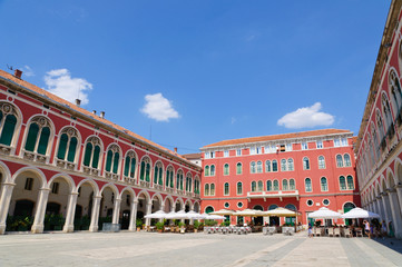 The Square of Republic in Split, Croatia