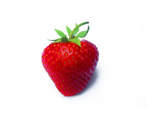 Strawberry on white