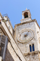 The Square of Narodni in Split, Croatia