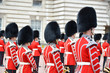 LONDON, UK – JUNE 12, 2014: British Royal guards perform the C - 66217789