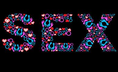Sex Text Various symbols Black