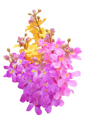 Colorful artificial flowers.