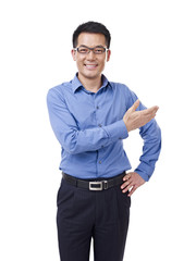 asian businessman presenting an idea