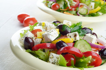 Homemade tasty delicious greek salad