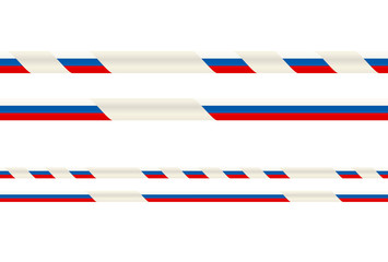 Seamless ribbon with Russian flag tricolor
