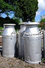 Old milk churns © Arena Photo UK