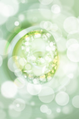 green bokeh number background, blured