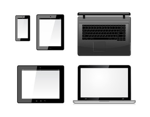 Laptop, tablet pc computer and mobile smartphone