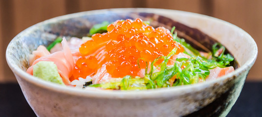 Salmon salad japanese food