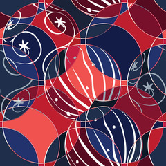 Baubles Wrapping Paper Design