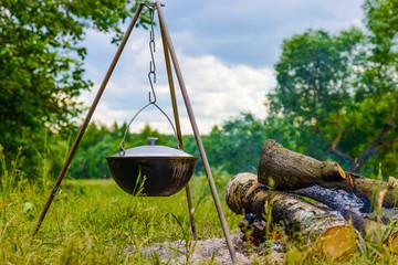kettle on a tripod