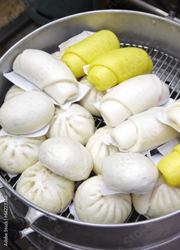 close up many chinese bun in china