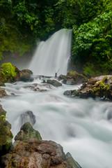 Waterfall in Costa Rica Jungle