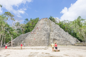 Coba main pyramid,Mexico