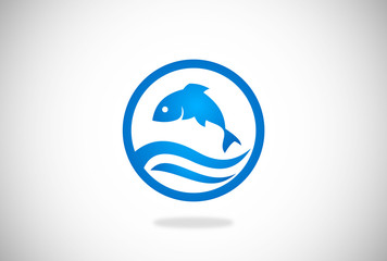 fish vector logo