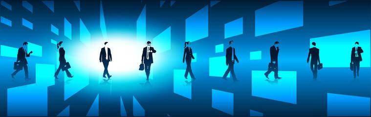 silhouette, affari