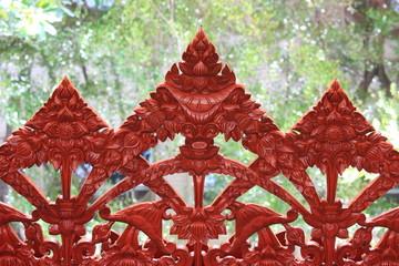 Wood Thai Pattern Handmade Wood Carvings.