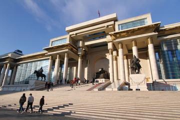 スフバートル広場 モンゴル