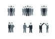 Business People Icon Set - 66227542
