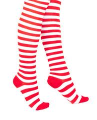 Woman legs in color red socks
