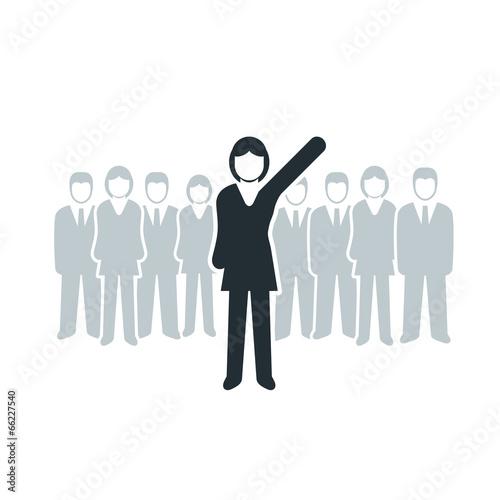 Leader woman