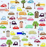 baby vehicle pattern design.