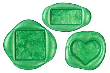 グリーンカラーの封蝋セット