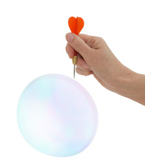 Burst my bubble! Concept - hope, optimism, love, life.