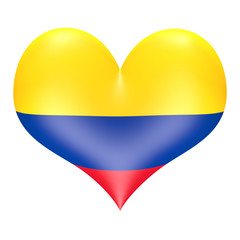 Ecuadorean flag in 3D heart shape
