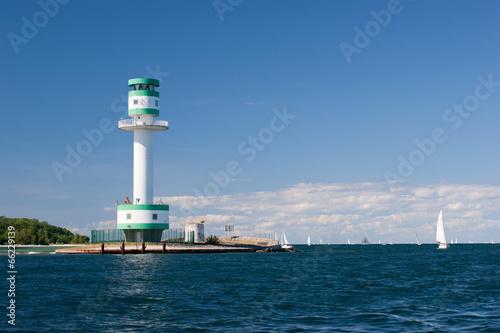 Fotobehang Vuurtoren / Mill Leuchtturm Kiel Friedrichsort