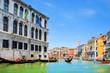 Venice Grand canal with gondolas, Italy