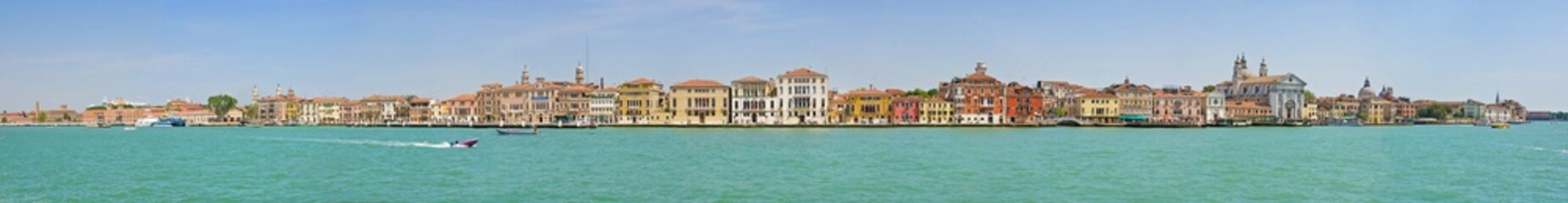The panorama of Venetian Lagoon, Venice, Italy