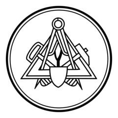 Maurer ~ Symbol ~ Zeichen ~ Emblem V2